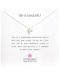 Dogeared - Life Is Beautiful Hummingbird Reminder (gold) Necklace - Lyst