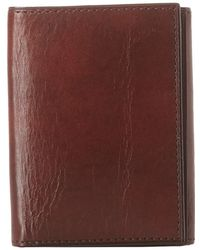Bosca - Old Leather Collection - Trifold Wallet (black Leather) Bill-fold Wallet - Lyst