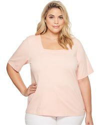 CK Calvin Klein - Plus Size Elbow Square Neck Top - Lyst
