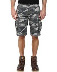 Carhartt - Rugged Cargo Camo Short (rugged Gray Camo) Men's Shorts - Lyst