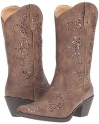 6faf71505956 Roper - Alisa (brown Faux Leather metallic Underlay) Cowboy Boots - Lyst