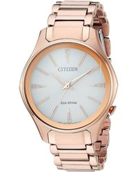 Citizen - Em0593-56a Eco-drive (rose Gold) Watches - Lyst