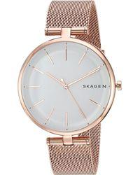 Skagen - Signatur - Skw2709 (rose Gold) Watches - Lyst