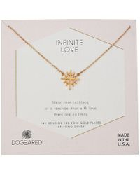 Dogeared - Infinite Love, Cross With Rays Charm Necklace (gold Dipped) Necklace - Lyst