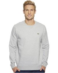 Lacoste - Sport Crew Neck Fleece Sweatshirt - Lyst