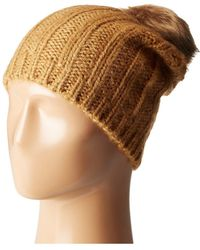 Hat Attack | Rib Slouchy With Pom | Lyst