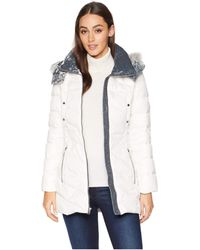 6dc25858dbf Marc New York - Chelsea Down Filled Velvet Trim Faux Fur Trim Hood (shell)
