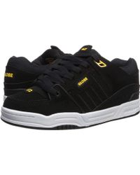 00bbe4d532e02 Globe - Fusion (black Action Nubuck/yellow Synthetic Nubuck) Men's Skate  Shoes -