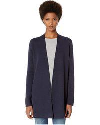 Eileen Fisher - Simple Long Cardigan (midnight) Women's Sweater - Lyst