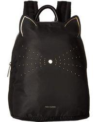 27267bbfacf2 Lyst - Ted Baker Katt Nylon Backpack in Black