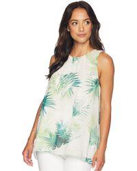 Vince Camuto - Sleeveless Sunlit Palm Blouse (verdant Green) Women's Blouse - Lyst