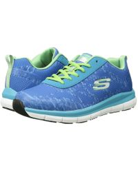 Skechers Work - Comfort Flex Sr - Hc (blue/green) Women's Shoes - Lyst