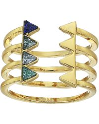 Rebecca Minkoff | Stacked Triangles U-ring | Lyst