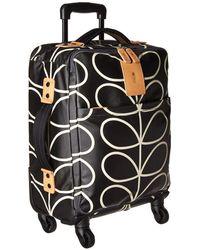 Orla Kiely - Classic Giant Linear Luggage Travel Cabin Case (black/cream) Luggage - Lyst