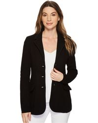Lauren by Ralph Lauren - Knit Sweater Blazer (black) Women's Jacket - Lyst