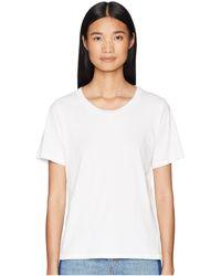 Baldwin Denim - Fitted Crew Tee (heather Grey) Women's T Shirt - Lyst