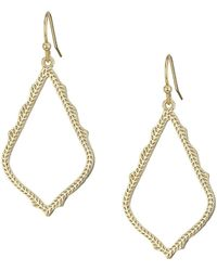 Kendra Scott - Sophia Earrings (rhodium/metal) Earring - Lyst
