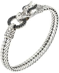 John Hardy - Legends Naga 7mm Station Bracelet With Black Sapphire (silver) Bracelet - Lyst