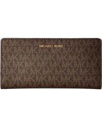 f15391710b2a MICHAEL Michael Kors Signature Large Slim Colorblock Card Case in ...