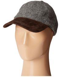 229ad68e48a Lyst - Lauren by Ralph Lauren Suede Brim Greek Fisherman Hat in ...