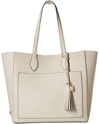 a46a00a0c6d9 Lyst - Versace Sand Pebbled Leather Tote in Natural