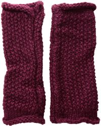 Rebecca Minkoff - Simple Solid Arm Warmer (purple Potion) Extreme Cold Weather Gloves - Lyst