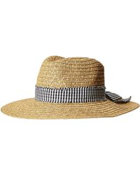 San Diego Hat Company - Ubf1109 Fedora With Novelty Bow Band (natural/black) Fedora Hats - Lyst