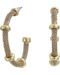 Lauren by Ralph Lauren - 28 Millimeter Mesh Hoop Earrings (gold) Earring - Lyst