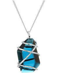 Robert Lee Morris Wire Wrap Pendant Necklace - Blue