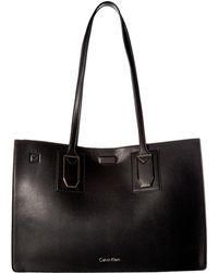 Calvin Klein | Unlined Novelty East/west Boxed Tote | Lyst