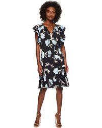 Ellen Tracy - Flouncy Sleeve Dress - Lyst