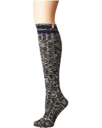 HUNTER - Original Mouline Collage Knit Socks (ocean Blue) Crew Cut Socks Shoes - Lyst