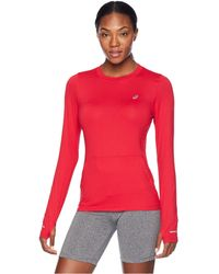 Asics - Thermopolistm Plus Long Sleeve Top (performance Black) Women's Long Sleeve Pullover - Lyst