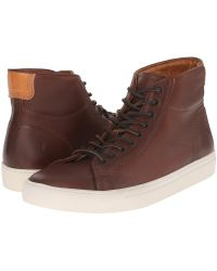 Frye - Walker Midlace (black Tumbled Full Grain) Men's Lace Up Casual Shoes - Lyst