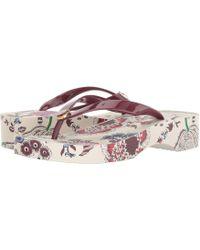 a8d84c5e4482 Tory Burch - Wedge Flip-flop (montauk Navy) Women s Sandals - Lyst