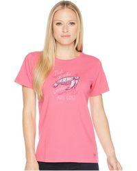 Life Is Good. - Wander Turtle Crusher Tee (fiesta Pink) Women's T Shirt - Lyst