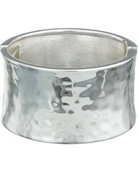 Robert Lee Morris - Wide Hammered Hinge Bangle Bracelet (silver) Bracelet - Lyst