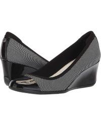 Anne Klein - Taite Wedge Heel (black Multi) Women's Shoes - Lyst