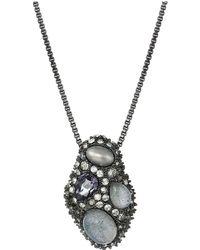 Alexis Bittar - Stone Cluster Pendant Necklace (ruthenium) Necklace - Lyst