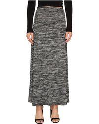 26dd947b2 Hot Kensie - Drapey Space Dye Maxi Skirt Ks8k6s40 (black Combo) Women's  Skirt - Lyst