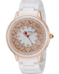 Betsey Johnson - Bj00622-03 - Pave Stones White Ceramic Band - Lyst