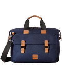 Knomo - Fulham Tournay Topload Brief (black) Briefcase Bags - Lyst