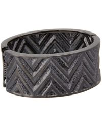 Guess | Chevron Stripe Wide Stretch Bracelet | Lyst
