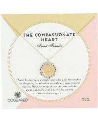 Dogeared - The Compassionate Heart Two-tone St. Francis Necklace (gold Dipped) Necklace - Lyst