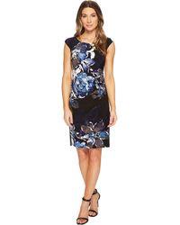 Lauren by Ralph Lauren - Koriza Patras Floral Dress (black/blue/multi) Women's Dress - Lyst