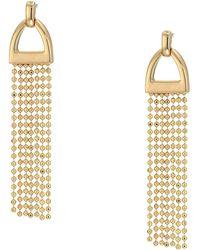 Lauren by Ralph Lauren - Beaded Linear Post Earrings (gold) Earring - Lyst