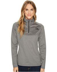 The North Face - Tech Glacier 1/4 Zip (tnf Medium Grey Heather) Women's Coat - Lyst