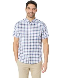 Nautica - Short Sleeve Casual Pink Plaid Shirt (pink Lady) Men's Clothing - Lyst