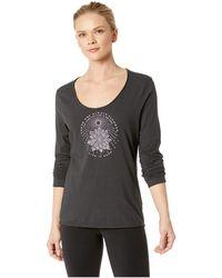 Life Is Good. - Illuminated Flower Smooth Long Sleeve T-shirt (night Black) Women's T Shirt - Lyst