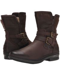 UGG - Simmens (black Leather) Women's Boots - Lyst